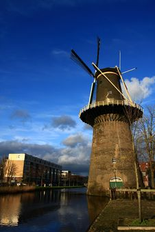 Free Windmill In Spring Stock Images - 4661644
