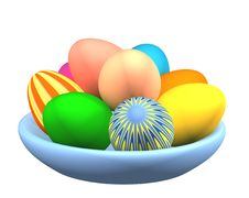 Free 3d Easter Eggs In A Plate Stock Photos - 4661793