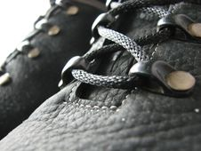 Free Black Leather Boots Laces Stock Images - 4661804