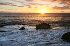 Free Ocean Sunset Stock Image - 4661921