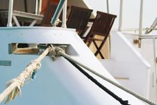 Cable Of The Yacht Stock Images