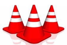 Free 3d Traffic Cone Stock Photo - 4662410