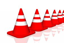 Free 3d Traffic Cone Royalty Free Stock Photo - 4662415