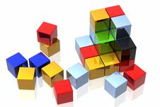Free Colourful Cubes Stock Photo - 4662480