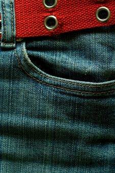 Free Jeans With Strap. Stock Photo - 4662570