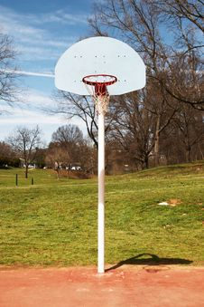 Free Basketball Hoop Basket On Court Stock Images - 4663214