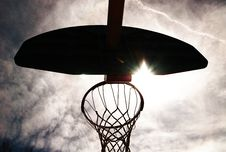 Free Basketball Hoop Silhouetted. Royalty Free Stock Photo - 4663245