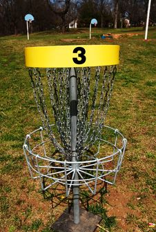 Free Disc Golf Hole Three Basket Royalty Free Stock Photos - 4663248