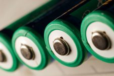 Free A Aa Rechargeable Battery On White. Royalty Free Stock Image - 4663296