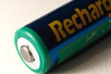 Free A Aa Rechargeable Battery On White. Royalty Free Stock Photography - 4663297