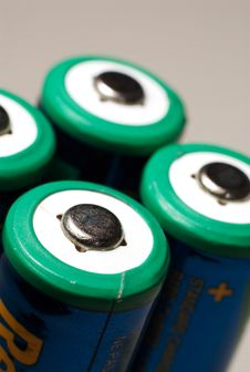 Free A Aa Rechargeable Battery On White. Royalty Free Stock Photos - 4663308