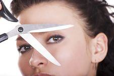 Free Lady With Scissors Stock Photography - 4663382