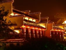 Free NIGHT SCENE IN CONFUCIAN TEMPLE Royalty Free Stock Photography - 4663627