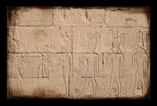 Free Egyptian Sings On The Wall, Grunge Stock Image - 4663631