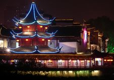 Free NIGHT SCENE IN CONFUCIAN TEMPLE Royalty Free Stock Image - 4663636