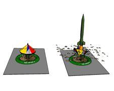 Free Rocket And Sandbox On A White Background. Royalty Free Stock Photo - 4664055