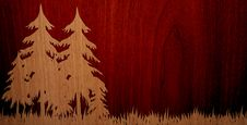 Pleasant Wood On Wood Background Royalty Free Stock Photography