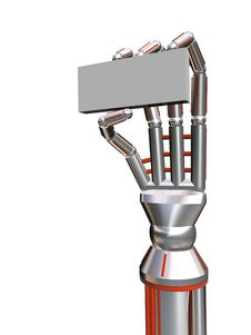 Free Robot Hold A Plate Stock Photos - 4664733