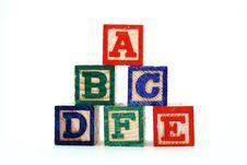 Free Alphabet Blocks Royalty Free Stock Photography - 4665047