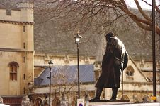 Free Churchill Statue. Forever Going To Parliament . Stock Photography - 4665722