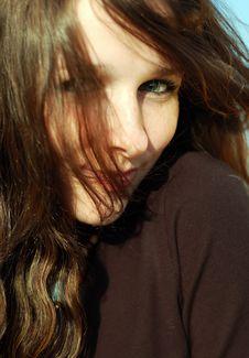 Free Teenage Girl Watching Royalty Free Stock Photography - 4665747