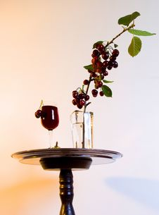 Free CHERRY IN VASE Royalty Free Stock Images - 4666329