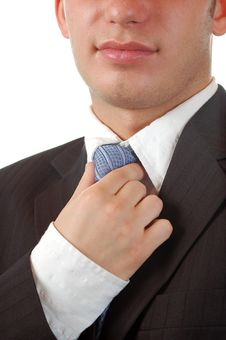 Free Business Man And Her Tie Royalty Free Stock Photo - 4666505