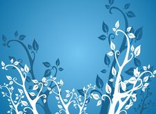 Free Blue Leafs Background Royalty Free Stock Image - 4666666