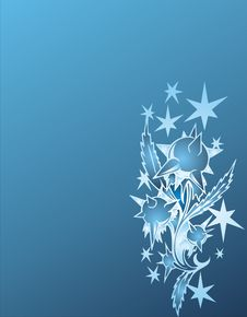 Free Silver Stars On Blue Background Stock Image - 4666701