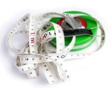 Tape Measuring Tool Royalty Free Stock Photography