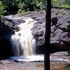 Free Wisconsin Waterfall Square Royalty Free Stock Photo - 4666805