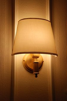 Bright Lamp On Hotel Wall Royalty Free Stock Photography