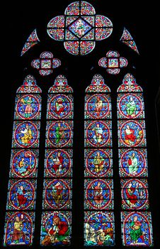 Free Church Stained Glass Windows Royalty Free Stock Photo - 4668195