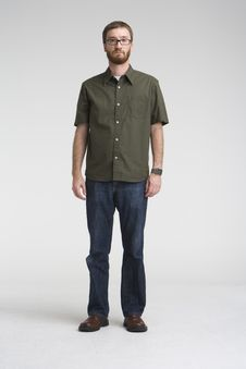 Free Standing With Green Shirt Stock Photo - 4668450