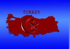 Free Turkey Map Royalty Free Stock Photos - 4668608