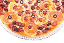 Sausage Pizza Stock Photo