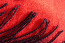 Scarf From A Wool With Brushes Stock Photos
