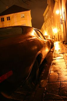 Free Retro Car In Tallin Royalty Free Stock Image - 4669386