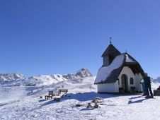 Church In The Dolomites Royalty Free Stock Photography