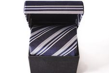 Free Silk Necktie With Box Royalty Free Stock Photography - 4669637