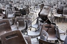 AUDIENCE CHAIRS Royalty Free Stock Images