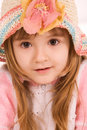 Free Nice Little Girl Portrait On White Stock Photos - 4670523