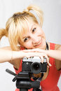 Free Young Girl With Vintage Camera Royalty Free Stock Photo - 4671515