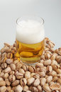 Free Beer With Pistachioes Royalty Free Stock Photography - 4672687