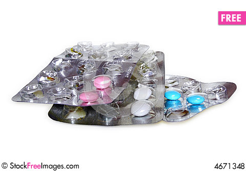 Free Pills In Blister Pack Royalty Free Stock Photos - 4671348