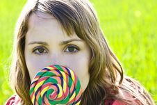 Free Cute Behind Candy Royalty Free Stock Photo - 4670145