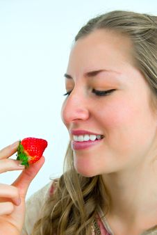 Free Looking At A Red Strawberry Stock Photography - 4670332