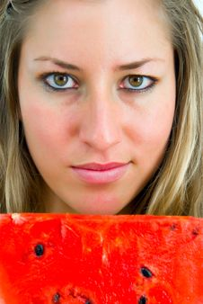 Free Portrait Of A Girl With Water-melon Royalty Free Stock Images - 4670379