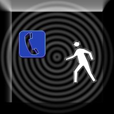 Free Abstract Symbol - Man And Phone Stock Image - 4670861