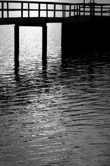 Free Silhouette Of A Pier Stock Photo - 4671090